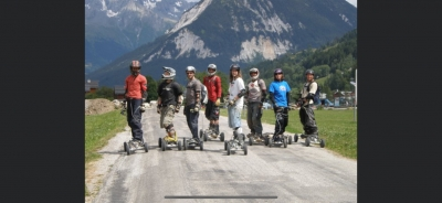 This is mountainboarding