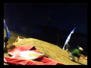 My crash at the 2003 Morzine Mountainboard Fest