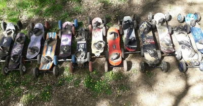 A bunch of boards