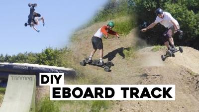 DIY eboard track *ESK8 BACKFLIPS*