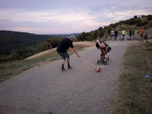 Mountainboard curling, it's the new cool thing