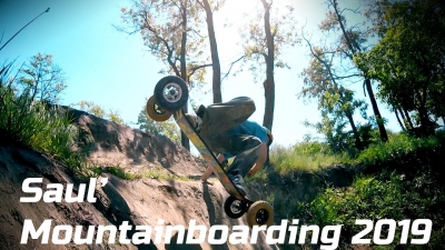 Saul' mountainboarding 2019 - Trash family